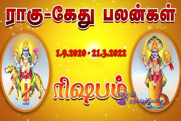 Rahu Ketu peyarchi 2020 in Tamil Rishbam