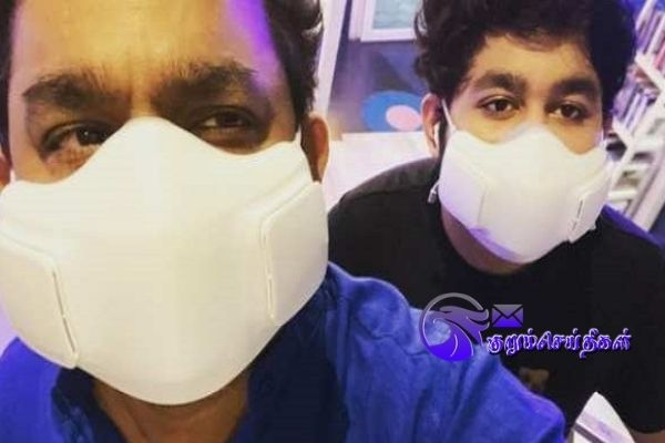 AR Rahman and his son vaccinated for covid19
