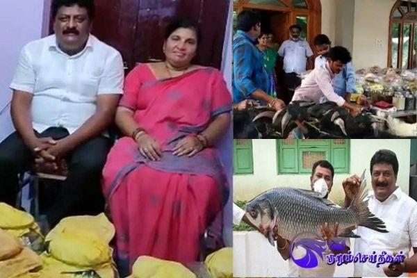 Dad gifts newlywed daughter 1000kg fish 250kg Prawns